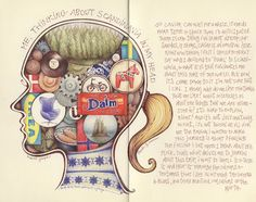Andrea Joseph, another great sketchbook page,