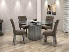 Conjunto de Mesa com 4 Cadeiras Movale - Vegas com as melhores condições você encontra no Magazine Shopcarl. Confira!