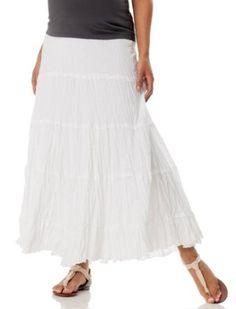 Motherhood Maternity: Secret Fit Belly(tm) Full Length Tiered Maternity Skirt