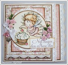 Finally the big day is here! Today at 10am you can buy all the new sweet Sugar Nellie Fairy Faye stamps over at Funky Kits . But first we ...