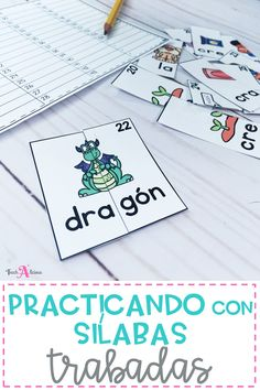 This 2-syllables blends (sílabas trabadas) game is the perfect independent activity practice for word work stations. Your students will have fun learning with these colorful self-correcting puzzle cards in Spanish.In this resource you will find:54 self-correcting puzzles in colorAn accountability wo...