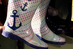 Sailor rain boots @ Beyond Retro