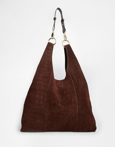 River Island Suede Slouch Bag