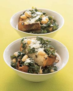 Kale and White Bean Soup - I make this a lot and it's wonderful! I add a bit of hot pepper for more kick.