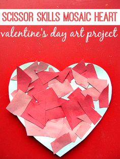 Mosaic Heart – Valentine's Day Craft For Kids - pinned by @PediaStaff – Please Visit  ht.ly/63sNt for all our pediatric therapy pins