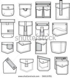 Sewing Hacks, Sewing Tutorials, Sewing Projects, Sewing Patterns, Techniques Couture, Sewing Techniques, Flat Drawings, Technical Drawings, Sewing Pockets