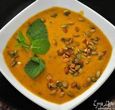 Тыквенный суп-пюре с чечевицей. Сытный, ароматный и несложный в приготовлении суп станет идеальным первым блюдом. #edimdoma #recipe #cookery #soup