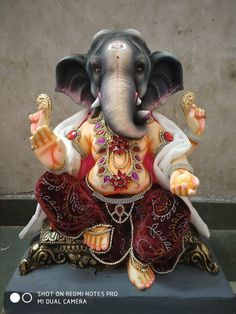 🙏🕉️🙏🕉️🙏🕉️ Clay Ganesha, Ganesha Painting, Ganesha Art, Krishna Art, Mask Painting, Jai Ganesh, Ganesh Lord, Ganesh Idol, Shree Ganesh