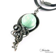 Mint talizman - naszyjnik z ceramiką (sprzedawca: Pociecha Jewelry), do kupienia w DecoBazaar.com