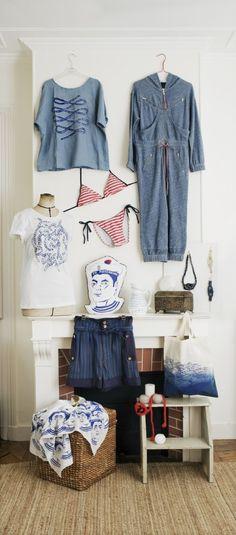 blue and white, mariner