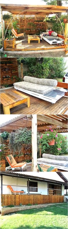 And since many people turned towards this great activity, eventually this is totally transformed. Like you just cannot imagine how huge projects are being made out of the shipping pallets. And just for the sake of a robust example, we have brought here a pallet wood made garden pergola sitting.
