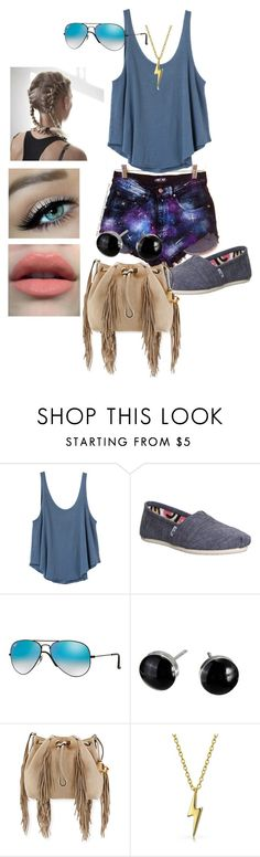 """""""Untitled #206"""" by anoushka-varma ❤ liked on Polyvore featuring RVCA, TOMS, Ray-Ban, Diane Von Furstenberg and Bling Jewelry"""