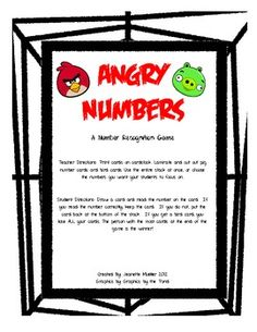 Angry bird number recognition