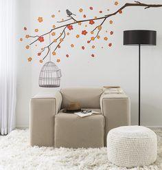 Espaço simples aconchegante e confortável pensado especialmente para quem quer curtir a casa depois de aproveitar o feriadão com a família   Produtos: - Poltrona Comfort Suede Bege; - Adesivo de Parede - Galhos e Gaiola - 202nt-P; - Puff Pastilha Crochê Creme;  #ProducaoCasaMobly #MoblyBR #CasaMobly #home #design #inspiration #decor #decoration #homedecor #casa #decoracao #inspiracao #homedecoration #instahome #instadesign #homedesign #homestyle #details #detalhes #lardocelar #homesweethome…