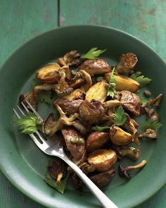 Roasted Mushroom and Potato Salad