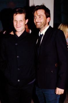 Matt and David attended the premiere of Arthur Darvill's new play 'Our Boys' in London's West End October 3, 2012.