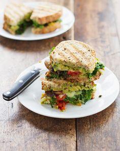AVOCADO VEGETABLE PANINI (332 CALORIES)  Avocado: the good kind of fat.