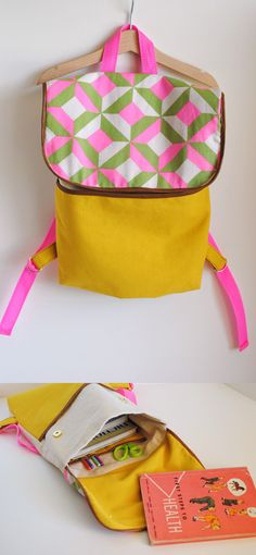 (back) to school Backpack Tutorial // by hart + sew