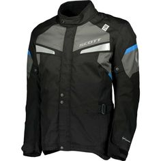 ΜΠΟΥΦΑΝ SCOTT : Μπουφάν Scott Storm DP Black/Blue Motorcycle Jacket, Jackets, Blue, Accessories, Fashion, Down Jackets, Moda, Fashion Styles, Moto Jacket