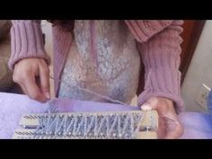 Cachecol Torcido Ponto Meia no Tear de Pregos - YouTube