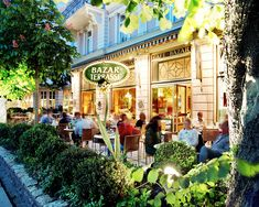 """Kaffeehaus in Salzburg - """"Café Bazar"""" Terrasse- most beautiful Café in Salzburg ! Cecconi house from the 19th century - marvellous view , best """"Milirahmstrudel"""" ever"""