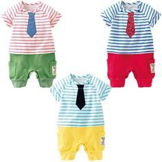 セパレート風ネクタイ付きカバーオール|出産準備・ベビー用品ならベストサンクス
