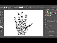 So füllen Sie eine Form mit Text in Adobe Illustrator - Grafik Design Font Design, Graphisches Design, Graphic Design Tutorials, Media Design, Graphic Design Inspiration, How To Design, Design Trends, Graphic Design Software, Shape Design