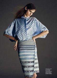 """csebastian:  """"Kenzo a Golpe de Vista"""" (+) Vogue Spain, September 2013photographer: Gorka Postigo Tamara Suarez"""