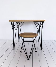 Apollo Black Table -  дизайнерский обеденный стол. Скандинавский стиль. Лофт. Металлические ножки.Стол для кухни, столовой, кафе, бара.