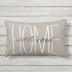 Rustic Chic Home Sweet Home Outdoor Cushion | Zazzle.com.au Diy Pillow Covers, Diy Pillows, Outdoor Throw Pillows, Decorative Pillows, Pillow Ideas, Home Decor Online, Diy Home Decor, Americana Home Decor, Discount Home Decor