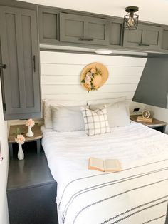 RV Farmhouse Bedroom Renovation - Claire Lynn Home
