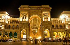 Milan, Galleria Vittorio Emanuele II at Night
