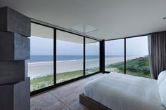 Stelle Lomont Rouhani Architects Design a Contemporary House in Long Island, New York Floor To Ceiling Windows, Windows And Doors, Long Island House, Limestone Wall, Architect Design, Pond, House Design, New York, Interior Design