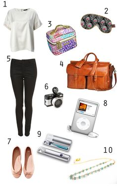 Girls.. almost everything you need to stay looking cool on the plane