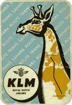 Very cool, very vintage KLM airline sticker
