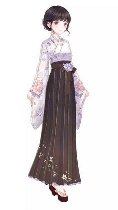 Anime Kimono, Anime Dress, Oriental Fashion, Asian Fashion, Anime Outfits, Girl Outfits, Beautiful Anime Girl, Japanese Outfits, Sweet Dress