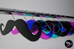 mustache hanger - wood or perspex