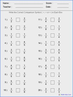 Comparing fractions worksheets comparing fractions worksheets can have other languages would be useful for french lessons Fractions Worksheets Grade 6, Fractions Équivalentes, Free Fraction Worksheets, 4th Grade Fractions, Free Printable Math Worksheets, Comparing Fractions, Equivalent Fractions, 5th Grade Math, Ordering Fractions