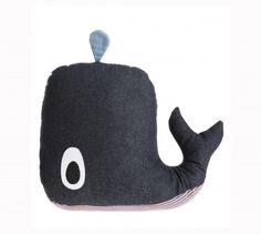 Coussin Kids *Whale* Bleu Jean