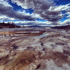 7949 miles on the road trip of a lifetime.... ================================= Location: Mammoth Hot Springs Yellowstone National Park.  Camera: 5D Mark ll Lens: Rokinon 14mm Shutter: HDR  Iso: 100 Aperture : F11 ================================= by jj.bowen