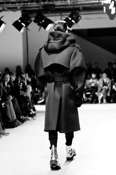 Men's black hooded trench style coat