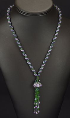 Waterlily: A Beadwoven Necklace. $150.00, via Etsy.
