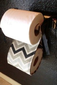 Toilet paper holder - free tutorial