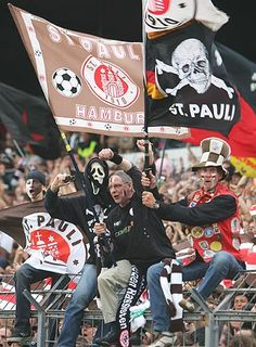 The fans of 2nd division Bundesliga St.Pauli. If you've never heard of them, look them up. You won't be disappointed.http://www.fcstpauli.com/fans/news