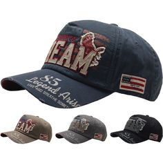5dea2748ab5 Raon B116 Dream Eagle Patch Wahsing Vintage Look Club Ball Cap Baseball Hat  Truckers Baseball Hats