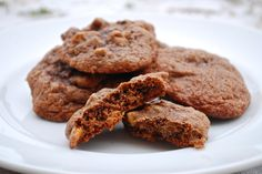 Chocolate Pecan Brownie Cookies ~ February 2015 Country Kitchen cookie recipes