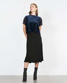 Image 1 of ROUND NECK TOP from Zara