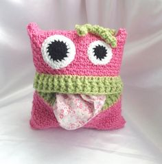 Pyjama monsters case crochet pattern: Create fun monsters that love to gobble up pyjamas for safe keeping until bedtime. Crochet for children. Love Crochet, Crochet Gifts, Crochet For Kids, Beautiful Crochet, Crochet Toys, Crochet Baby, Knit Crochet, Crotchet, Crochet Ideas To Sell