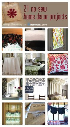 21 No-Sew Home Decor Projects