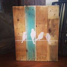 Birds on a Wire Pallet Sign by TeedumTeedee on Etsy